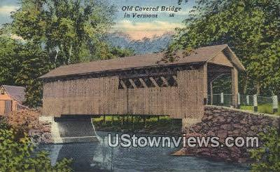 Old Covered Bridge - Misc, Vermont VT Postcard