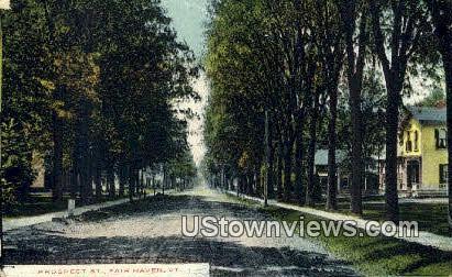 Prospect Street - Fair Haven, Vermont VT Postcard