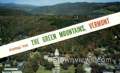 Vermont State Capitol - Montpelier Postcard