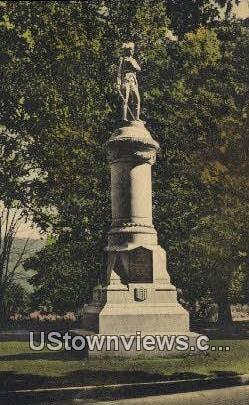 Soldiers Memorial Monument - Manchester, Vermont VT Postcard