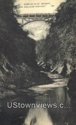 Coolidge Highway - Quechee Gulf, Vermont VT Postcard