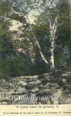 St Johnsbury, VT     ;     St Johnsbury, Vermont Postcard