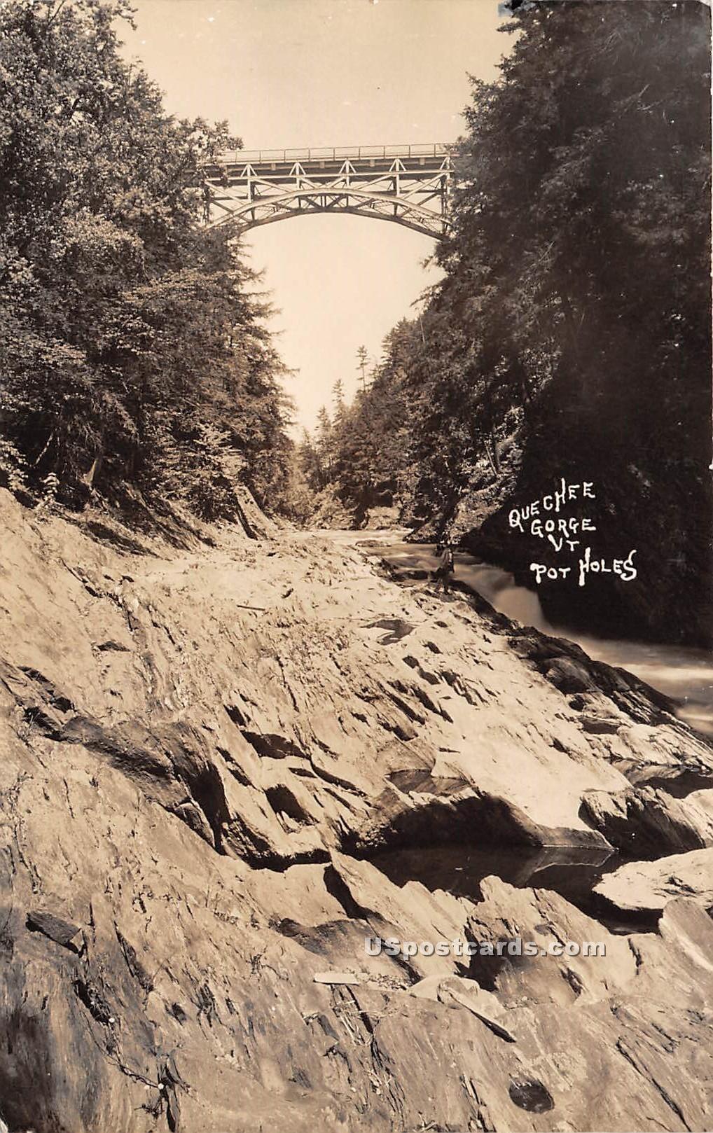 Pot Holes - Quechee Gorge, Vermont VT Postcard