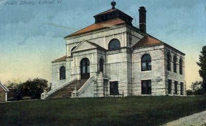 Public Library - Rutland, Vermont VT Postcard