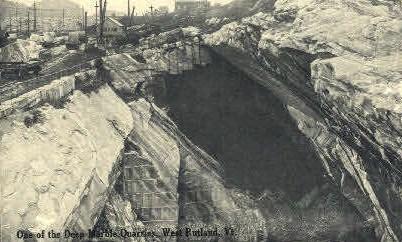 Deep Marble Quarry - Rutland, Vermont VT Postcard