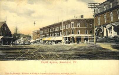 Depot Square - Randolph, Vermont VT Postcard