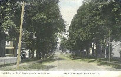 Main Street - Richmond, Vermont VT Postcard