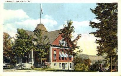 Library - Randolph, Vermont VT Postcard
