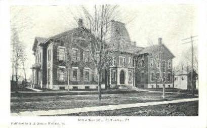 High School - Rutland, Vermont VT Postcard