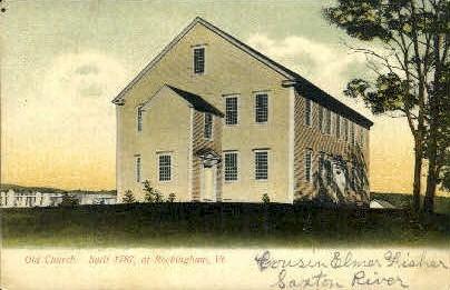 Old Church - Rockingham, Vermont VT Postcard