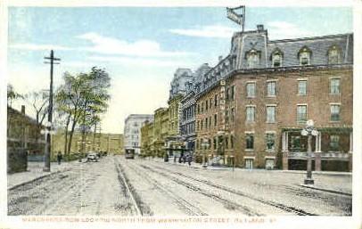 Merchants Row - Rutland, Vermont VT Postcard