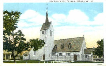 Church of Christ - Rutland, Vermont VT Postcard