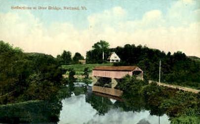 Dorr Bridge - Rutland, Vermont VT Postcard