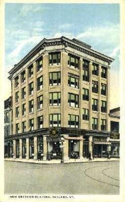 New Gryphon Building - Rutland, Vermont VT Postcard