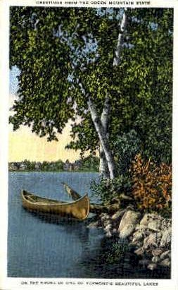 Lake - Misc, Vermont VT Postcard