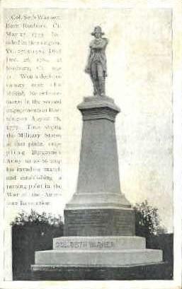 Col. Seth Warner Monument - Roxbury, Vermont VT Postcard