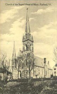 Sacred Heart of Mary - Rutland, Vermont VT Postcard