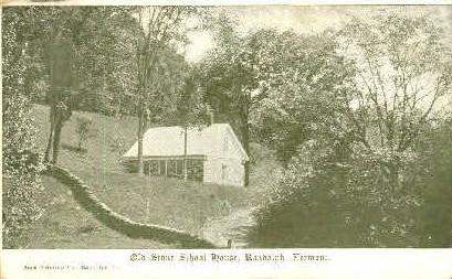 Old Stone School House - Randolph, Vermont VT Postcard