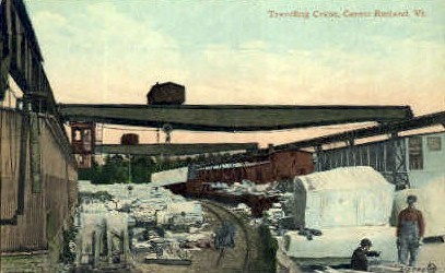 Traveling Crane - Rutland, Vermont VT Postcard