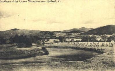 Green Mounains - Rutland, Vermont VT Postcard