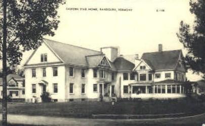 Eastern Star Home - Randolph, Vermont VT Postcard