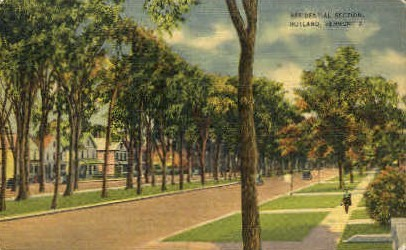 Residental Section - Rutland, Vermont VT Postcard