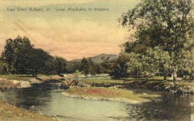 East Creek - Rutland, Vermont VT Postcard