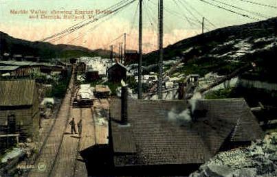 Marble Valley - Rutland, Vermont VT Postcard