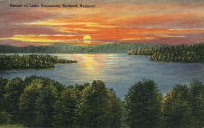 Lake Bomoseen - Rutland, Vermont VT Postcard