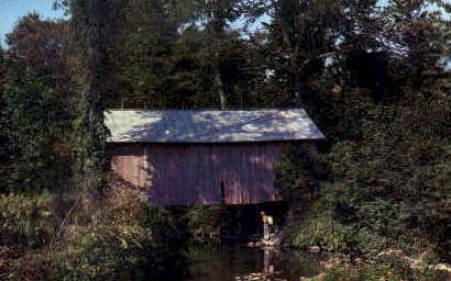 Covered Bridge - Randolph, Vermont VT Postcard