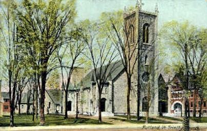 Trinity Church - Rutland, Vermont VT Postcard