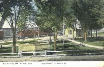 Depot Square - Richmond, Vermont VT Postcard