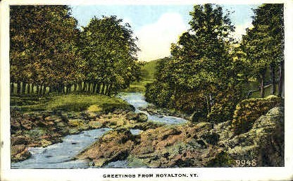 Royalton - Vermont VT Postcard