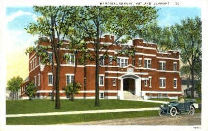 Memorial Armory - Rutland, Vermont VT Postcard