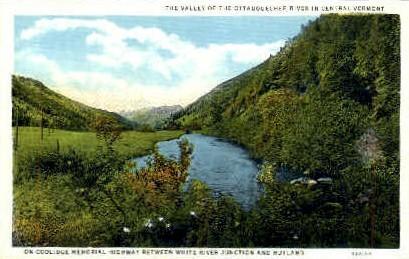 Ottaquechee River - Rutland, Vermont VT Postcard