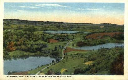 Hortonia, Echo, and Bebee Lakes - Rutland, Vermont VT Postcard