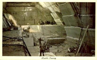 Marble Quarry - Rutland, Vermont VT Postcard