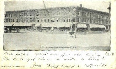 Union Block - Randolph, Vermont VT Postcard