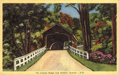 Covered Bridge - Rutland, Vermont VT Postcard