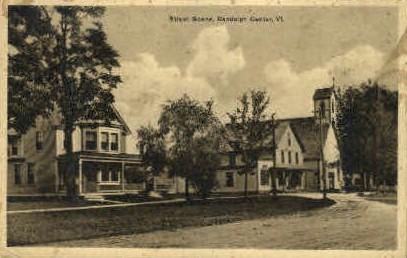 Street Scene - Randolph, Vermont VT Postcard