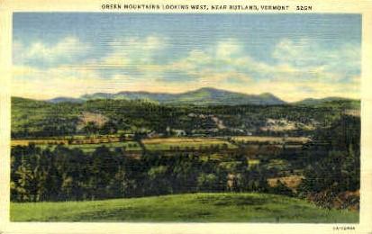 Green Mountain Boy - Rutland, Vermont VT Postcard