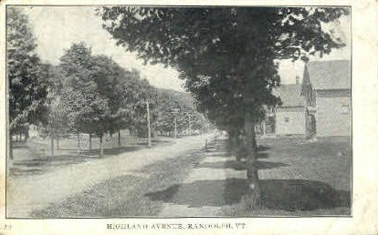 Highland Avenue - Randolph, Vermont VT Postcard