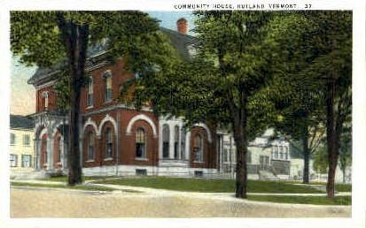 Community House - Rutland, Vermont VT Postcard