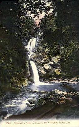 McLaughlin Falls - Rutland, Vermont VT Postcard