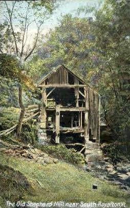 Old Shephard Mill - Royalton, Vermont VT Postcard