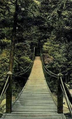 Swing Bridge - Rutland, Vermont VT Postcard