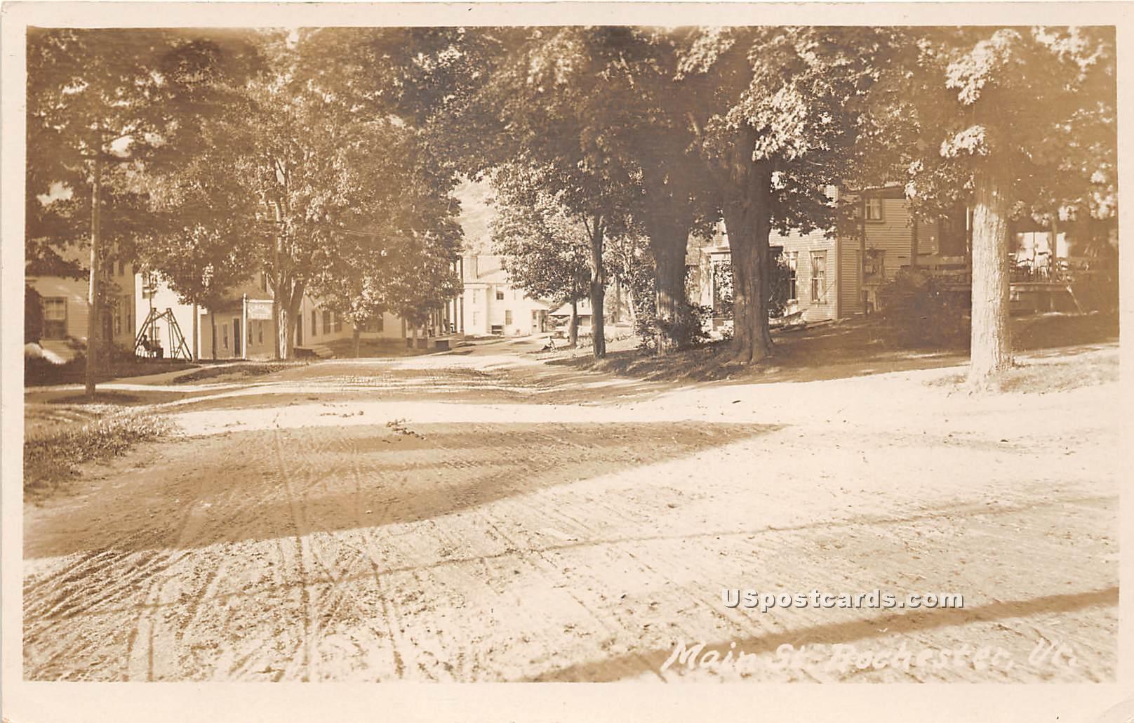 Main Street - Rochester, Vermont VT Postcard