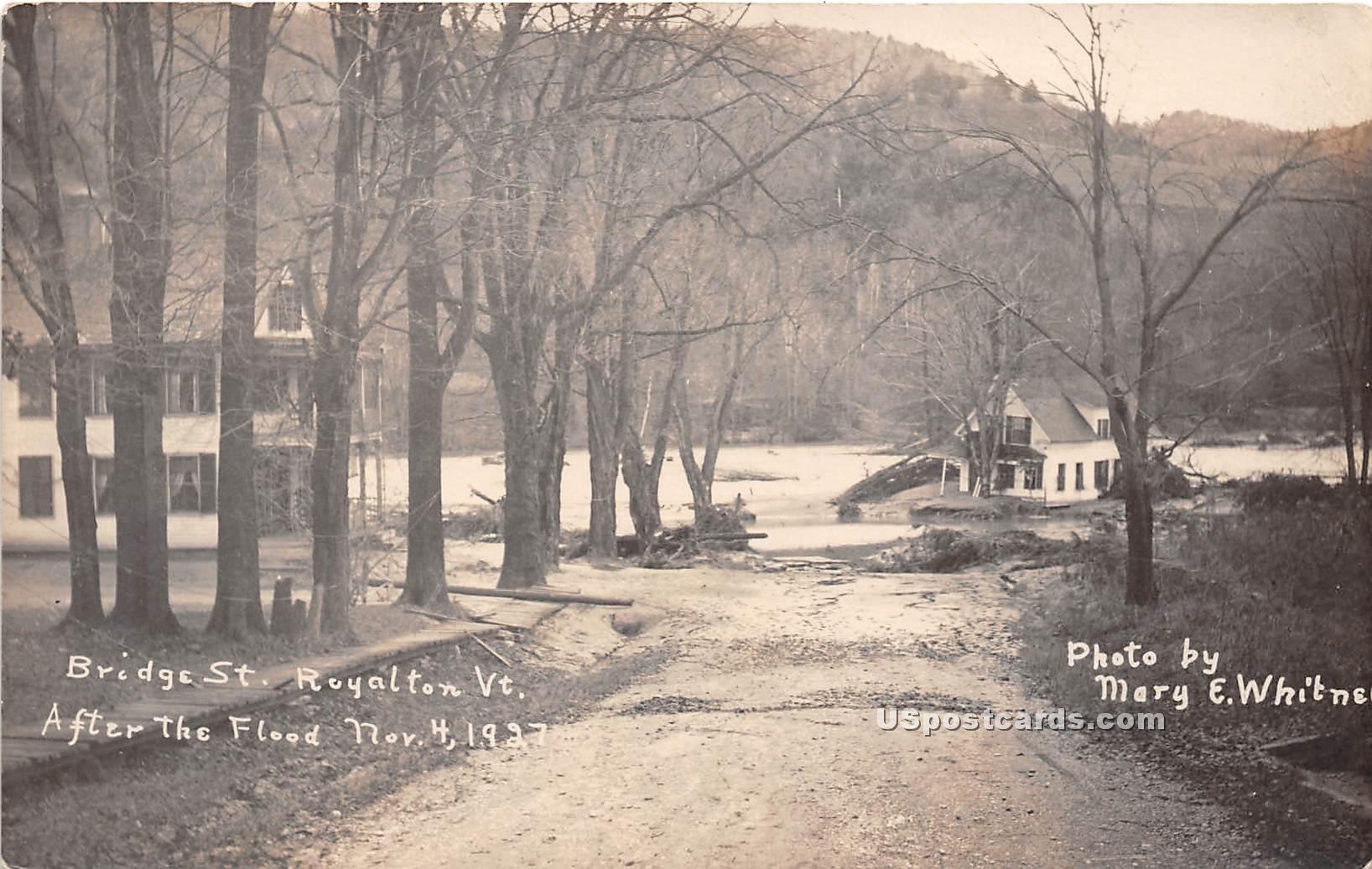 Bridge Street - Royalton, Vermont VT Postcard