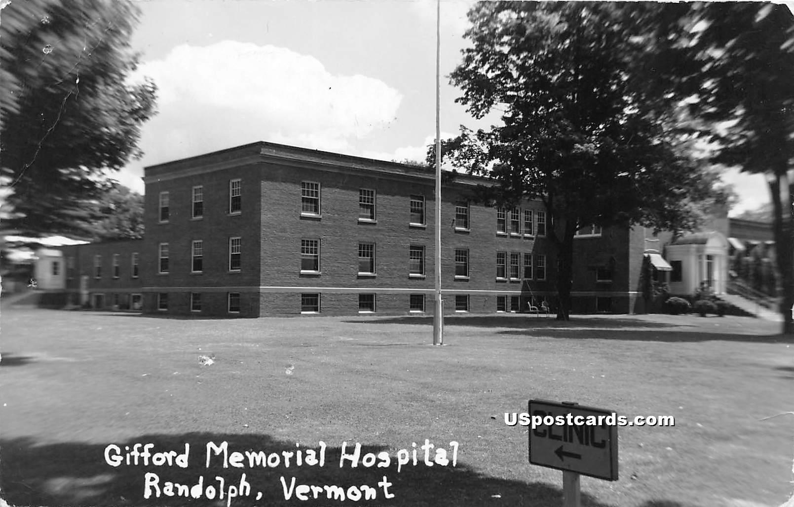 Gifford Memorial Hospital - Randolph, Vermont VT Postcard