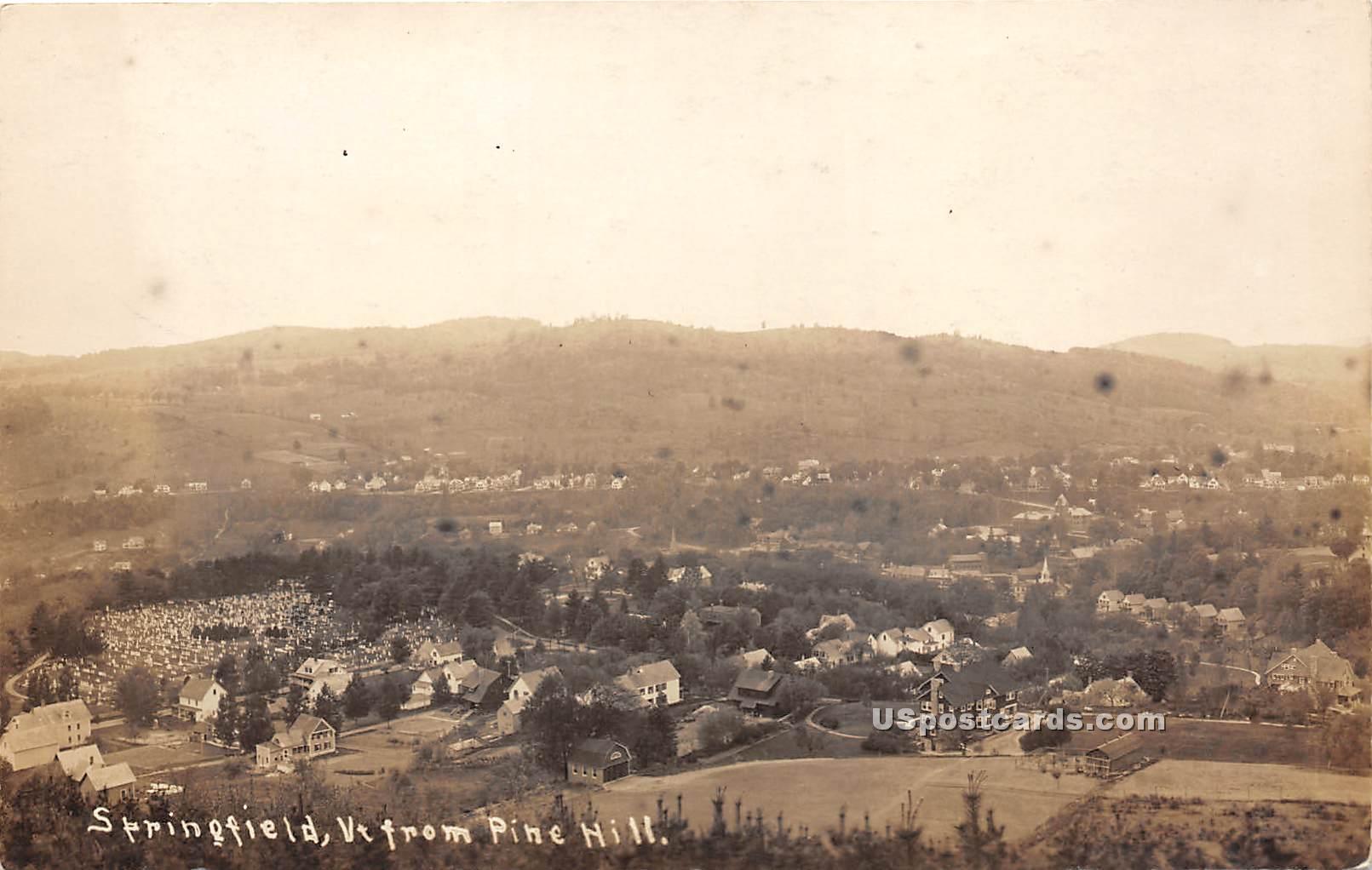 Pine Hill - Springfield, Vermont VT Postcard